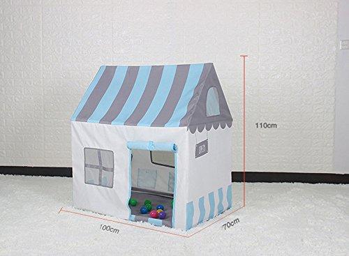 Kinder Spiel Zelt Pink und Blau Indoor für Jungen und Mädchen Spielzeug Game House (ohne Ocean Ball) (Farbe : Blau)