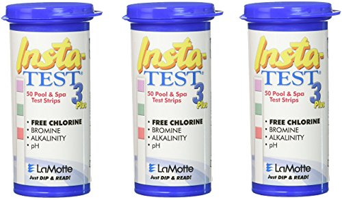 Water 3 Strips Way Test (LaMotte 3X Insta-Test 3-Way Swimming Pool and Spa Test Strip (Tests for Chlorine, Bromine, pH and Alkalinity))