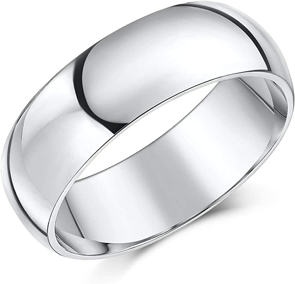 Mens Cobalt Wedding Ring 7mm Cobalt Chrome Court Comfort Wedding Band