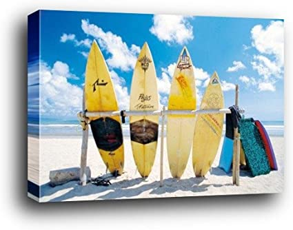 Navegar por Póster como bloque de – Sol Mar y tablas de surf (91 x