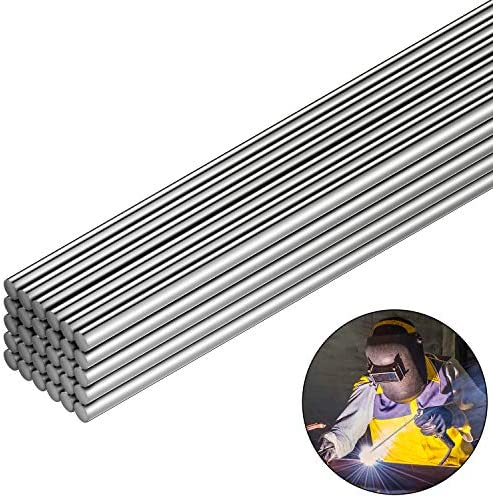Aluminum Welding Rods 0.08 x 13 Inch Universal Low Temperature Welding Cored Wire Aluminum Repair Rods for Electric Power Drill Tap Polish Paint Supplies (30 Pieces)