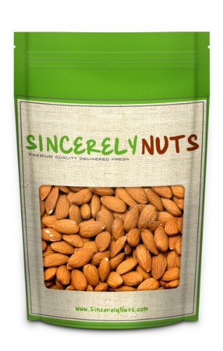 Sincerely Nuts Natural Whole Raw Almonds Unsalted No Shell - Absolutely Appetizing- Full of Healthy Nutrients - Kosher