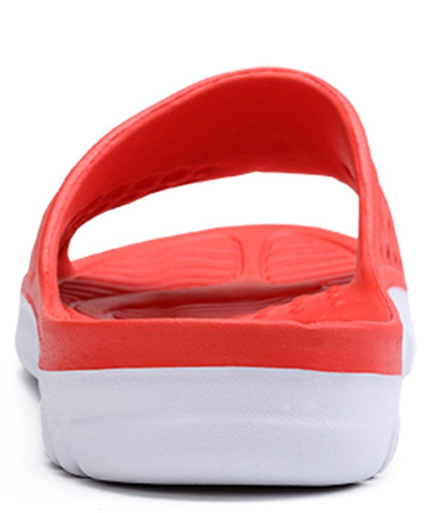 Phefee Mens Slide Sandals Anti-Slip Lightweight Bathroom Shower Slipper(Red40) by Phefee (Image #2)