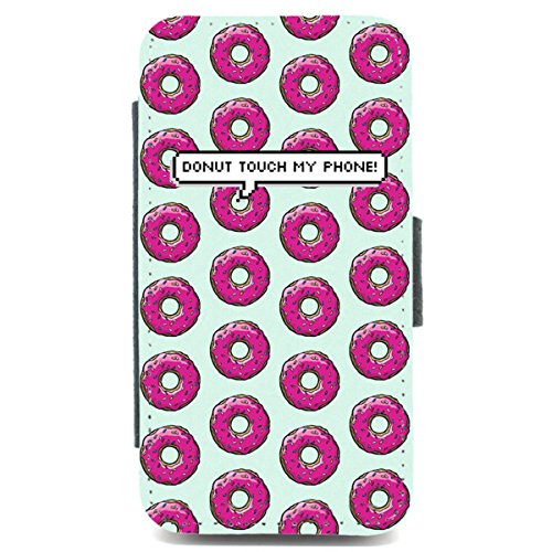 iPhone 4/4S Wallet Telefon Fall Donut Touch My Phone Muster Funny Retro