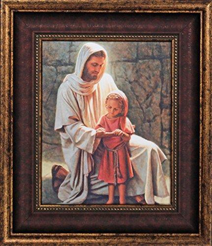 Inspirational Pictures Of Jesus - Framed Picture of Jesus Come and See By Del Parson Jesus with Little Girl