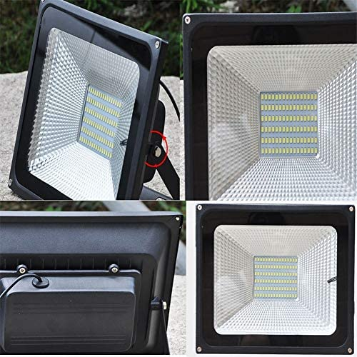 HJWL Luces Solares de Inundación, Súper Brillante Impermeable Solar Proyectores Led Exterior Carreteras Parques Paneles Solares Seguridad Luces