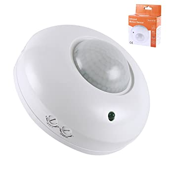 Enjoygous 360° Motion Sensor Switch, Human Body Infrared Detector Motion Switch Wired Ceiling Occupancy