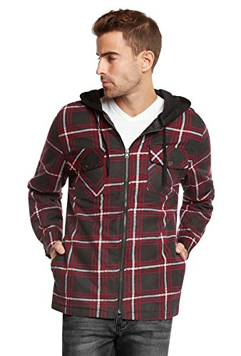 Quilted Lined Hooded Shirt Jacket - 4