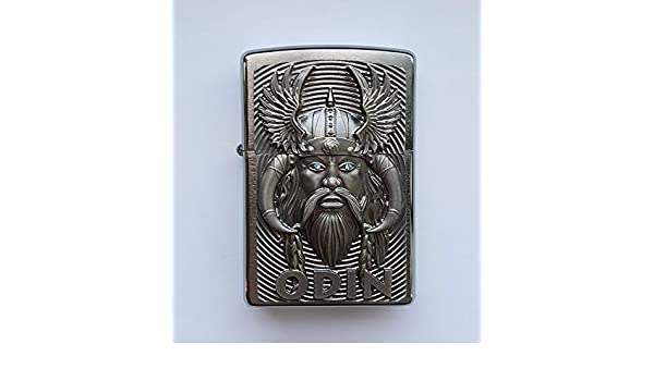 Zippo 2.005.286 Odin with Blue Eyes - Limited Edition 0001/1000 - Cromo Brushed: Amazon.es: Jardín
