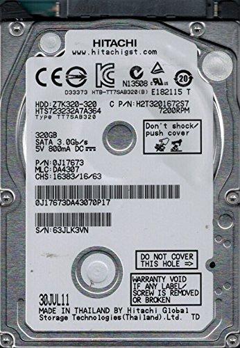 Hitachi HTS723232A7A364 P/N: 0J17673 MLC: DA4307 320GB