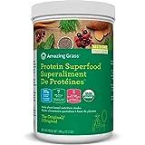 Amazing Grass Organic Plant Based Vegan Protein Superfood Powder, Flavor: Original, 348 Grams, Meal Replacement Shake
