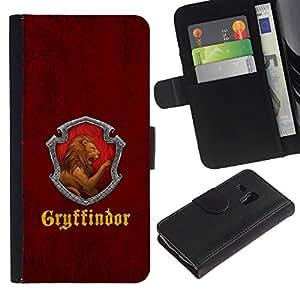 JackGot ( Gryffindor )Samsung Galaxy S3 MINI i8190 (NOT S3) la tarjeta de Crédito Slots PU Funda de cuero Monedero caso cubierta de piel