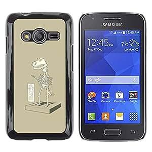 TopCaseStore / la caja del caucho duro de la cubierta de protección de la piel - Paleontology T Rex Cartoon - Samsung Galaxy Ace 4 G313 SM-G313F
