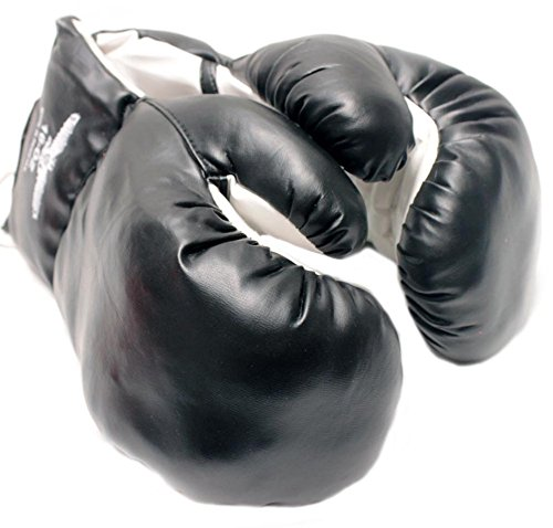 Rex 1 Pair Black 16oz Punching Boxing Gloves for Fighters -