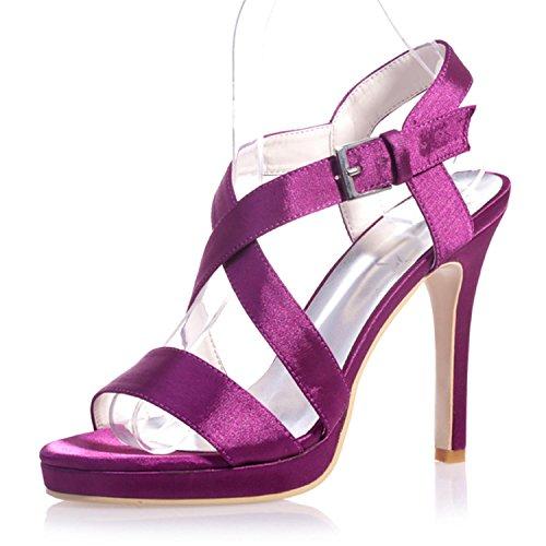 L@YC 5915-22 Tacones altos / Cómodo PU / Peep Toe / Fiesta nocturna y Confort casual / Variedad de colores Purple