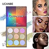 Best UCANBE Highlight Kits - UCANBE Makeup High-shine Glitter Highlighter Palette 9 Color Review