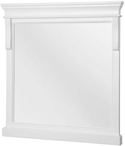 Foremost NAWM2432 Naples 24-Inch Width x 32-Inch Height Mirror, White