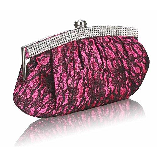 L And S Handbags - Cartera de mano para mujer rosa fucsia