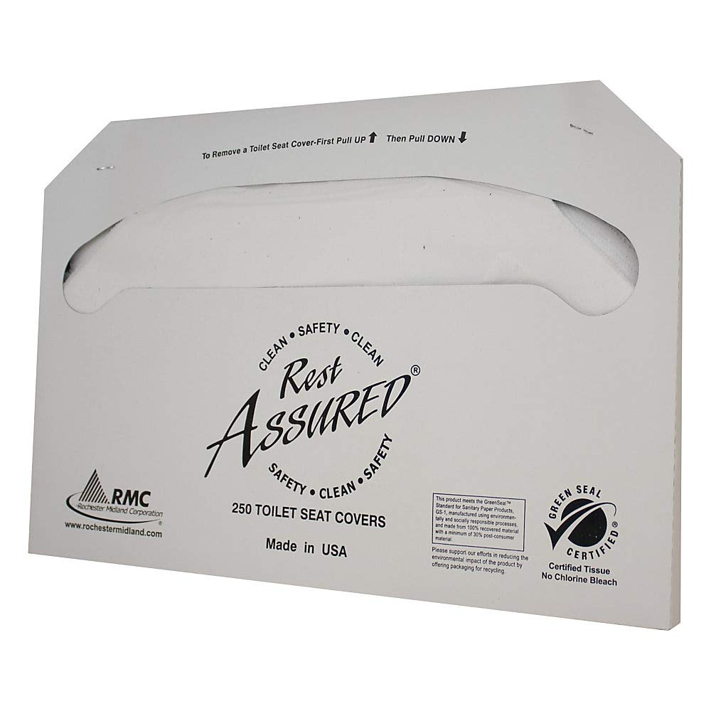 Rest Assured Toilet Seat Covers, 100% Recycled, White by Rest Assured