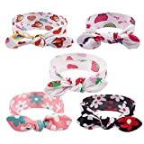 Subesty Baby Girls Headband With Bow Cute Floral Turban Elastic Hairband For Infant Toddler Newborn Set Of 5