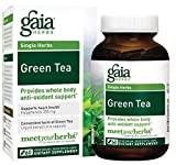 Gaia Herbs Green Tea, Vegan Liquid Capsules, 60 Count – Antioxidant Support and Heart Health Supplement, Certified Organic Green Tea Extract