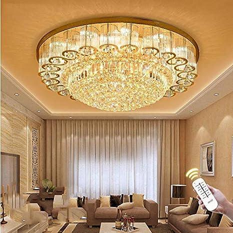 KALRI Luxury Crystal Chandelier LED Ceiling Lamp Flush Mount Modern Pendant  Lighting Fixtures For Living Room Bar Shop (Dia 23.6u0027u0027)     Amazon.com