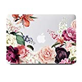 Lapac MacBook Air 13 Inch Case 2018 2019 Release A1932, Rose Flower Clear Case, Soft Touch Hard Shell Case for MacBook Air 13 Retina Display Fits Touch ID