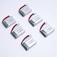 UUMART FQ FQ17W EACHINE E55 RC Quadcopter Spare Parts 6 Pcs 300mAh 25C Lipo Battery