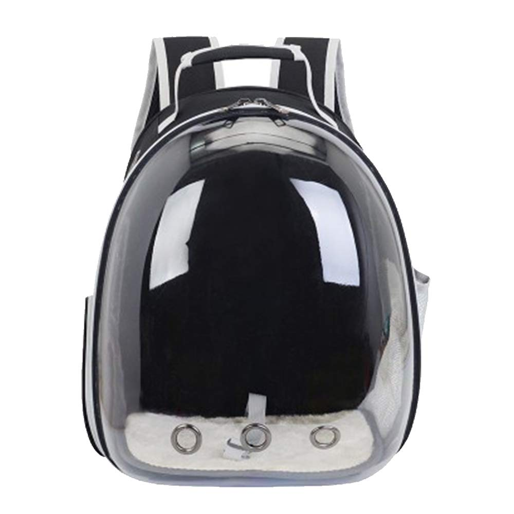 Black Pet Carrier Backpack,Space Capsule Bubble Transparent Backpack for Cats and Puppies,AirlineApproved, Designed for Walking & Outdoor Use
