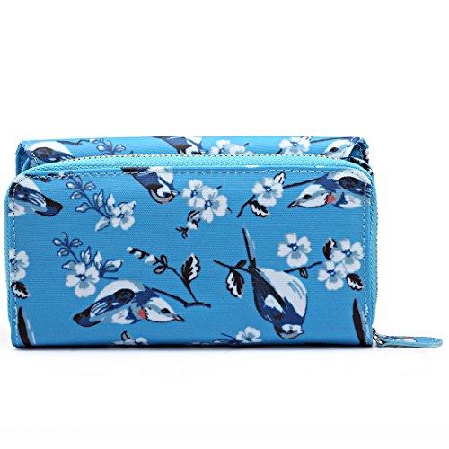 Miss Lulu - Bolso cruzados para mujer Talla única 6682 Blue