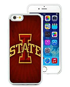 CMS Easy Use iPhone 6 4.7 inch TPU Cases Design with Iowa State Cyclones in White