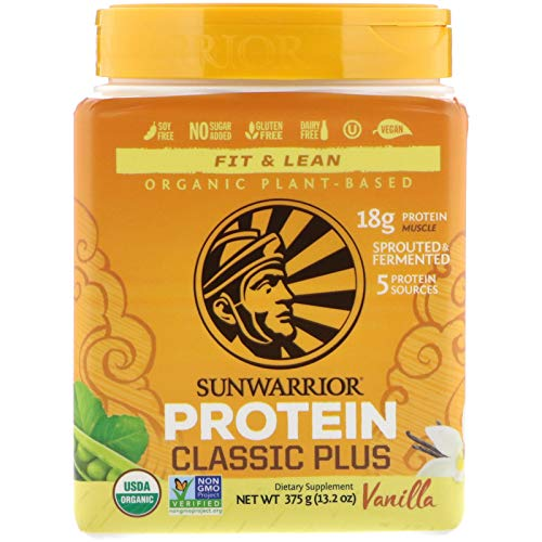 Sunwarrior Organic Classic Plus- Vanilla (Each)-sunwarrior, 0.6 Pound (Sunwarrior Classic Plus Organic Raw Plant Based Protein)