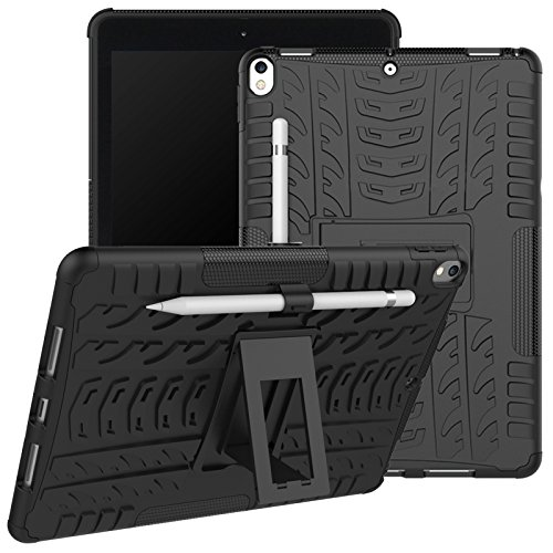 DMG Protective Heavy Duty Dual Layer Kickstand Back Cover Case for Apple iPad Pro 10.5  Black