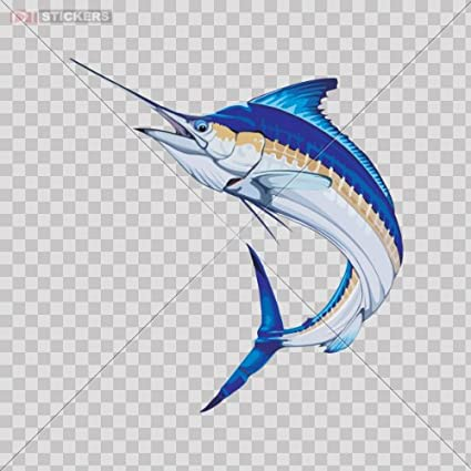 Decal stickers vinyl marlin fish fishing car window yacht ship boat jet ski beach store note