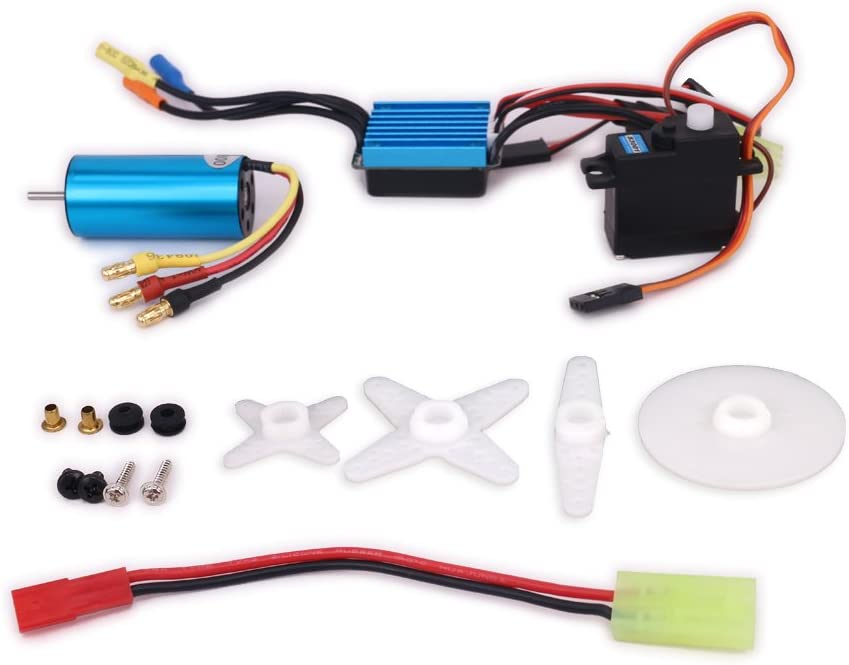 1/18 Scale 17g Servo + 2040 Brushless Motor 4800KV + 25A Waterproof ESC Speed Controller for Wltoys A949 A959 A969 A979 k929 RC Car Airplane Boat