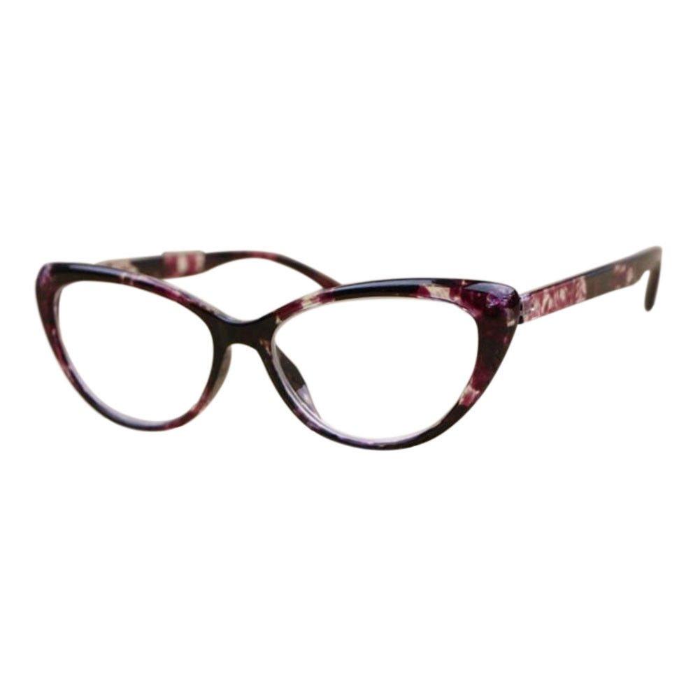 Hzjundasi Lady lunettes de lecture Oeil de chat Plein cadre Force: +1.00 à +4.00