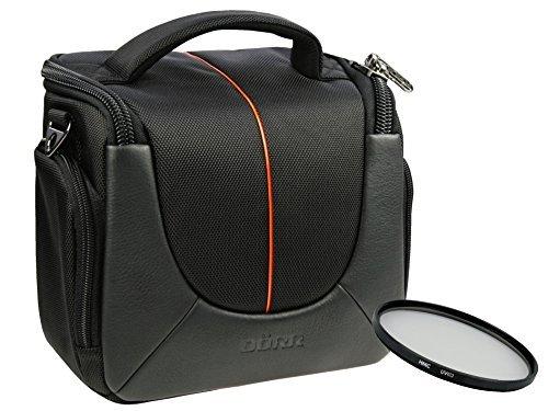 Foto Kamera Tasche YUMA BLACK M mit UV Filter 55mm für Sony Alpha 7 R II B mit Objektiv SEL 28-70mm KB