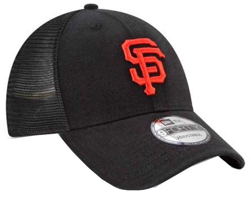 check out 3a9ab 247bc Amazon.com  New Era 9Forty Hat MLB San Francisco Giants Black Trucker  Adjustable Cap  Clothing