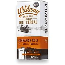Wildway Grain-free Hot Cereal: Cinnamon Roll, 7 .oz,  Pack of 4