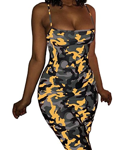 Bodycon Vita Elegante donne Camo Vestito Slittamento Coolred Dell'impero Zenzero Cocktail Sexy wBTHxCaqX