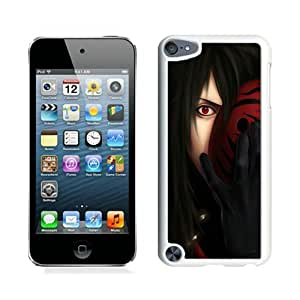 Naruto Uchiha Madara Sharingan Man Mask White Case Cover for iPod Touch 5 Grace and Cool Design