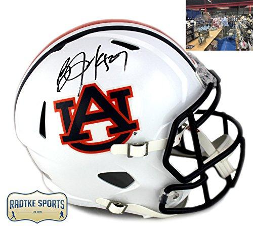 (Bo Jackson Autographed/Signed Auburn Tigers Riddell Speed Full Size Helmet)