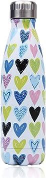 Oferta amazon: Newday1 Botella de Agua de Mantiene Bebidas frías por 24h y Calientes por 12h 500ML de Doble Pared con Aislamiento de Botella de Agua de Acero Inoxidable Sin BPA Water Bottles