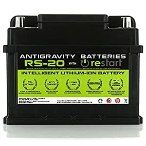 Antigravity Batteries RS-20 Intelligent Lithium Race Car Battery, RE-START Technology & Built-In Management System