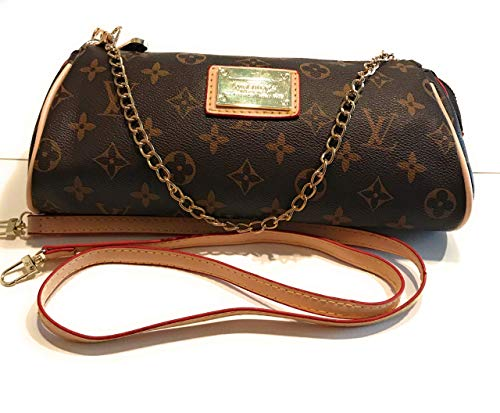 Women's Canvas Pochette Monogram Double-use Chain Flap Bag Small Crossbody Bag Shoulder Bag inspired by LV - Inspired Purse