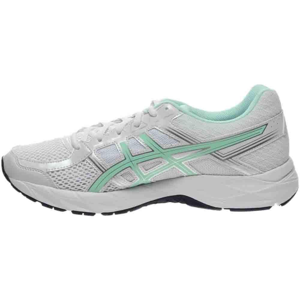 ASICS Women's Gel-Contend 4 Running Shoe, White/Bay/Silver, 5 M US by ASICS (Image #4)