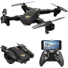 VISUO RC Drone Foldable Flight Path FPV VR Wifi RC Quadcopter 2.4GHz 6-Axis Gyro Remote Control Drone with 720P HD 2MP Camera Drone