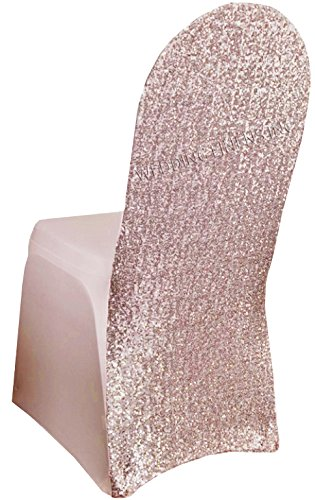 Remarkable Wedding Linens Inc Spandex Banquet Stretch Fitted Sequin Chair Cover Lycra Chair Covers For Restaurant Kitchen Dining Wedding Party Banquet Events Alphanode Cool Chair Designs And Ideas Alphanodeonline