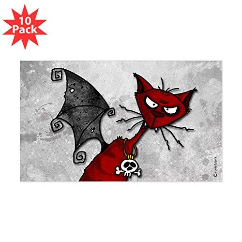 CafePress - Doom Kitty Rectangle Sticker 10 Pk) - Rectangle Bumper Sticker (10-pack), Car (Doom Kitty)