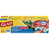 Glad Food Storage Bags, 2-in-1 Zipper Gallon, 36 Count (Pack of 3)